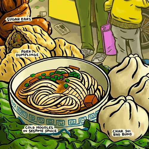Chinese street food scene